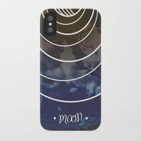 moon phases iPhone & iPod Cases featuring Moon Phases by rollerpimp