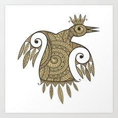 Princess of birds Art Print