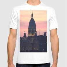 Night At The Vatican MEDIUM White Mens Fitted Tee