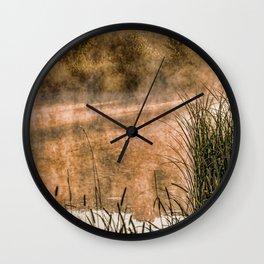 Sunrise at the lake /Sonnenaufgang am See Wall Clock