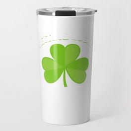 Getting Lucky Tonight Clover St Patrick's Day Shamrock Lacrosse Beer Fest Gift Travel Mug