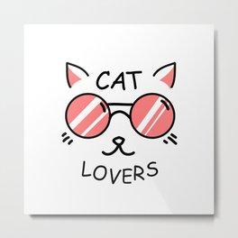 Cat lovers Metal Print
