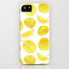 Fresh Lemon Fruit Slices iPhone Case