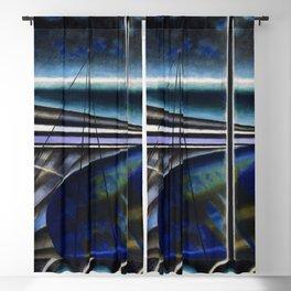 Metropolitan Port cubist cityscape nautical landscape painting by Joseph Stella Blackout Curtain