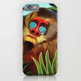 Henri Rousseau Mandrill In The Jungle iPhone Case