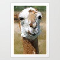 lama Art Prints featuring Lama by Design Windmill