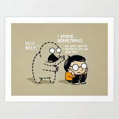 Worst Imaginary Friend Ever Art Print