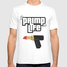 Primp Life Mens Fitted Tee MEDIUM White