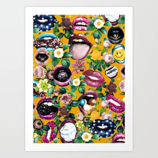 Sexy Floral Garden Art Print