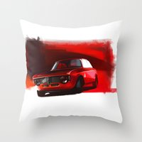 gta Throw Pillows featuring Alfa Romeo Giulia Sprint 1600 GTA by Vadim Artemyev
