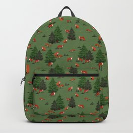 Foxes in the forest Backpack