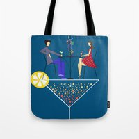 cocktail Tote Bags featuring Cocktail by Aleksandra Mikolajczak