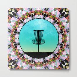 Disc Golf Abstract Basket 4 Metal Print