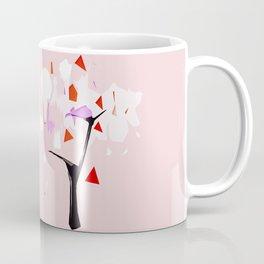 Powder Pink Tree Abstract Coffee Mug