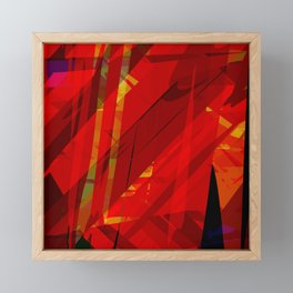 red spiky Framed Mini Art Print