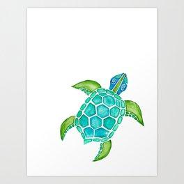 Watercolor Sea Turtle Art Print