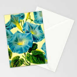 Blue Morning Glories Stationery Cards