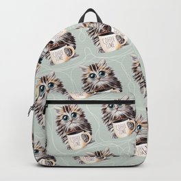 cat coffee time Backpack
