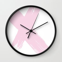 pink cross Wall Clock