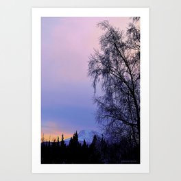 Chugach Mts Serenity Sunrise - I Art Print