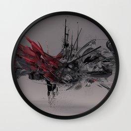 abstract chaos illustration Wall Clock
