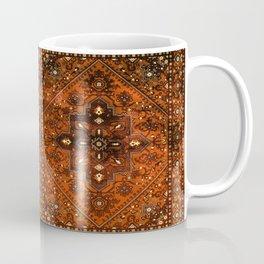 N151 - Orange Oriental Vintage Traditional Moroccan Style Artwork Coffee Mug