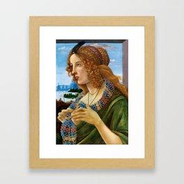 "Sandro Botticelli ""Allegorical Portrait of a Lady (Simonetta Vespucci ?)"" Framed Art Print"