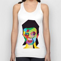 bowie Tank Tops featuring bowie by mark ashkenazi