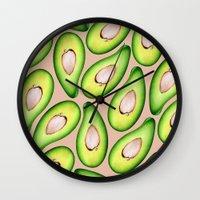 avocado Wall Clocks featuring Avocado by Colocolo Design   www.colocolodesign.de