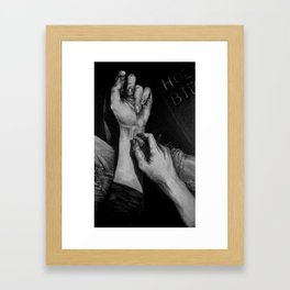 SELF-IMMOLATION Framed Art Print