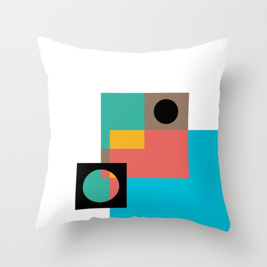 Geometric Crazy 1 Throw Pillow