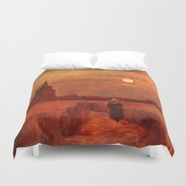 The Old Tower in the Fields by Vincent van Gogh Duvet Cover