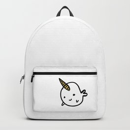 CUTE NARWHAL - GOLD HORN Backpack