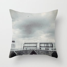 Meeting at the Station Throw Pillow