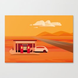 Tonapah Gas Station Canvas Print