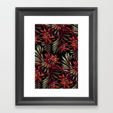 Aechmea Fasciata - Dark Orange / Purple Framed Art Print