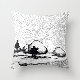 Selkie Beach Throw Pillow