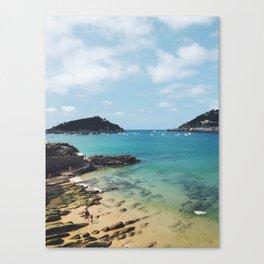 Summer in Donosita San Sebastian Spain Beach Canvas Print