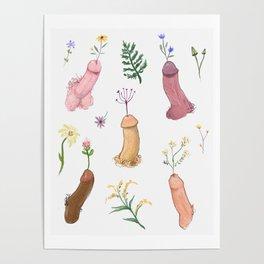 Flower Dicks Poster
