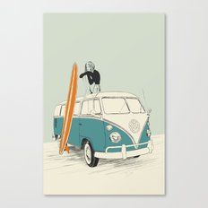 Wild Surfer Canvas Print