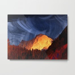 the rock at sunset Metal Print