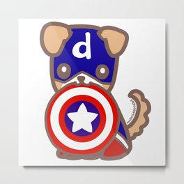Captain Dodger & Shield Metal Print