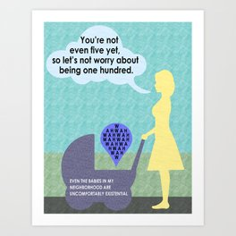 Existential Babies Art Print