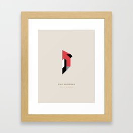 Pine Grosbeak Framed Art Print