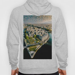 Aerial view of the Notre Dame in Paris Hoody