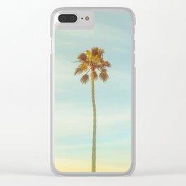 Sunrise Palm Tree Clear iPhone Case