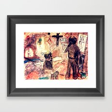Sure its only a bit of fun dougal Framed Art Print