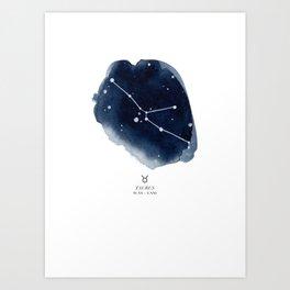 Zodiac Star Constellation - Taurus Art Print