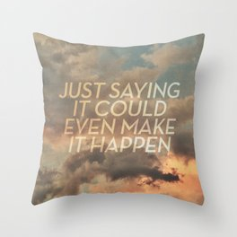 cloudbusting Throw Pillow
