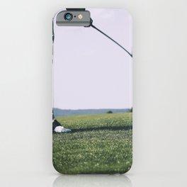 Golfer at a golfcourse iPhone Case
